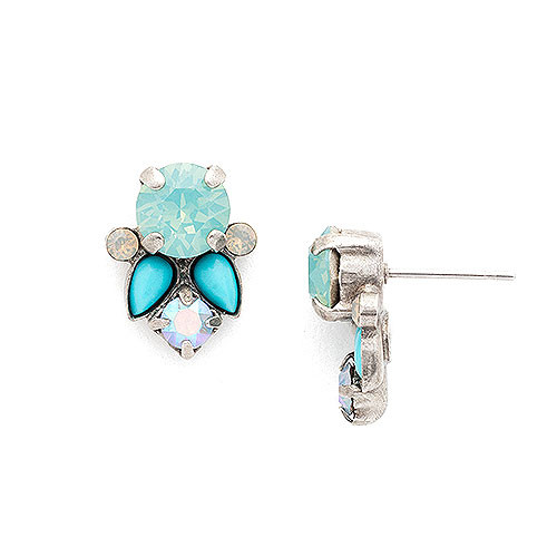 Sorrelli Pacific Opal & Turquoise Post Earring