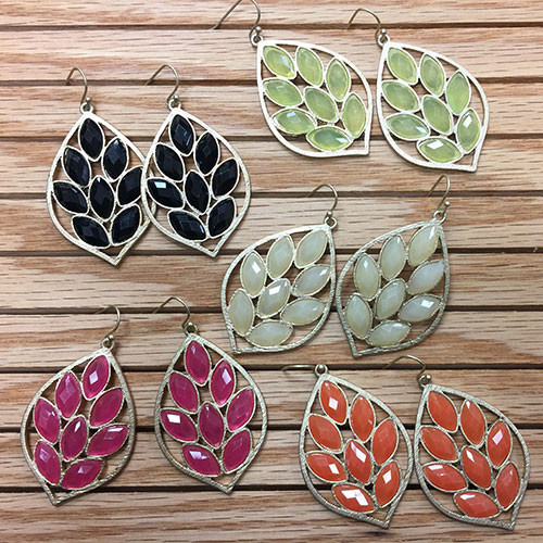 Kyky & Zo Lotus Leaf Earring