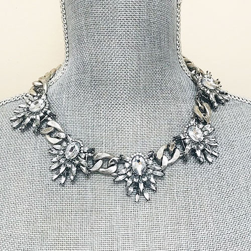 Edgy Crystal Statement Necklace