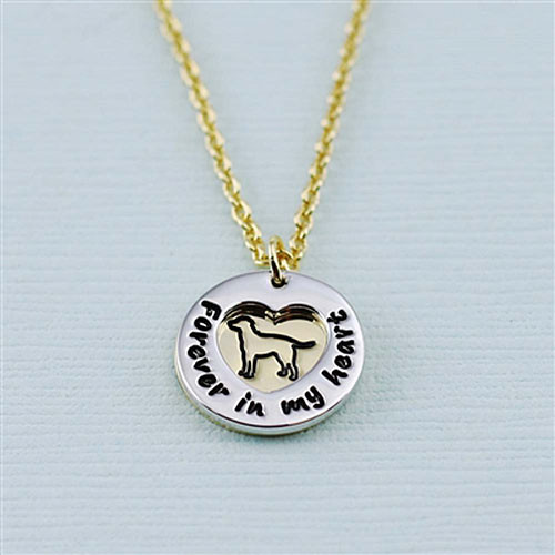 "Labrador Retriever ""Fur Baby"" Forever in Our Hearts Necklaces"
