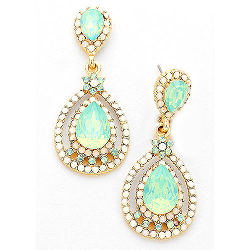 Lola's Double Mint Teardrop Dangles G