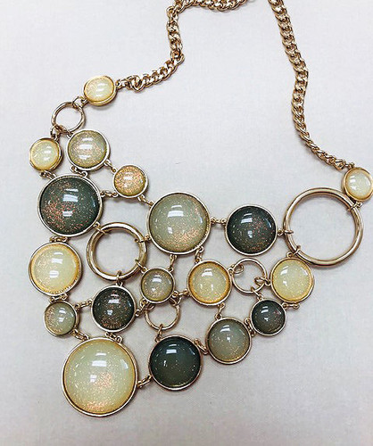 Gray Bubble Necklace