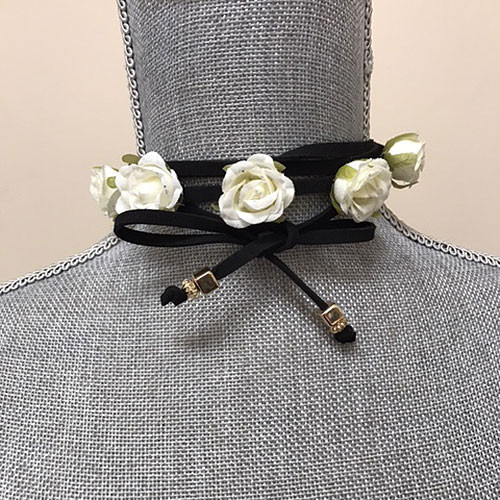 Statement Flower Wrap Choker