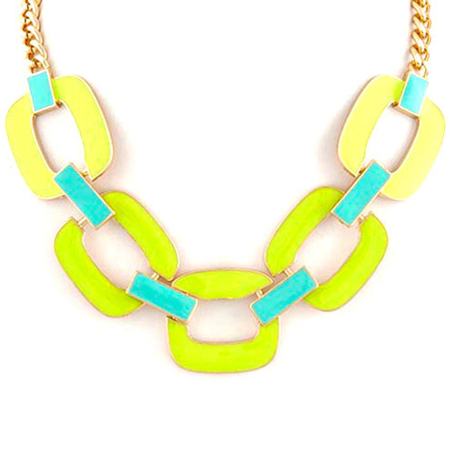 Chartreuse Green Gilded Collar