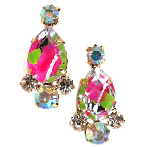 Firecracker Crystal Drop Earring