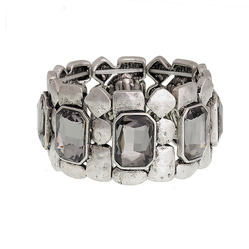 Black Diamond Embellished Stretch Cuff
