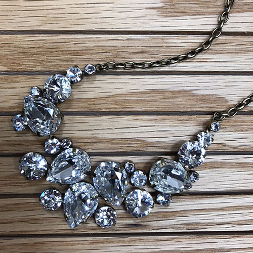 Sorrelli Nested Crystal Statement Necklace