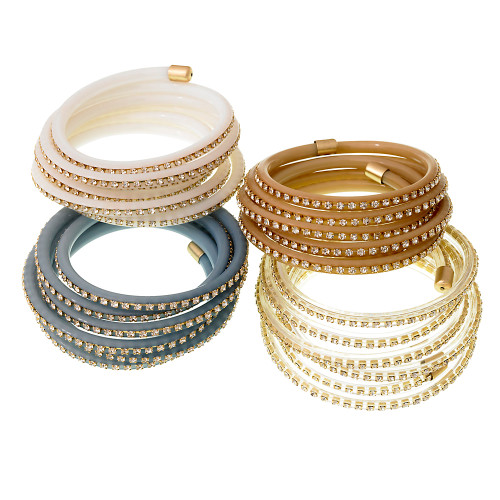 Crystal Flexible Wrap Bracelet