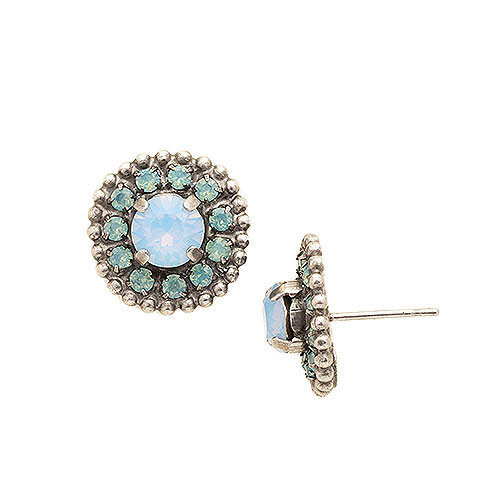 Sorrelli Crystal Shield Stud Earring