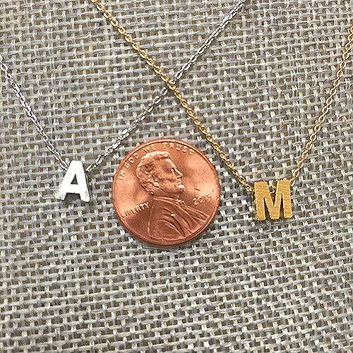 Lil' Block Letter Initial Necklaces