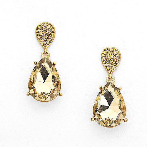 Light Colorado Champagne Gold Teardrops