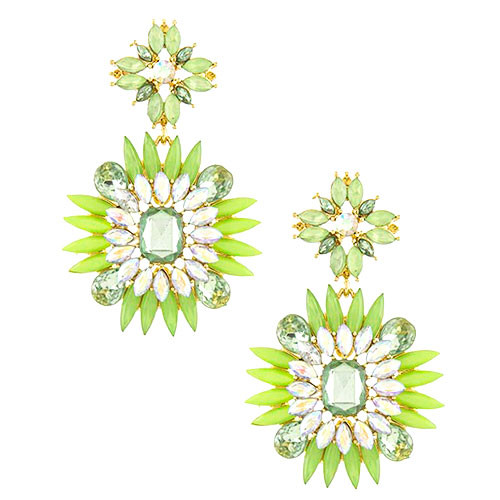 Spikey Crystal Jeweled Earring