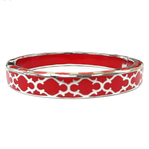 AHC's Red and Silver Harmony Bangle