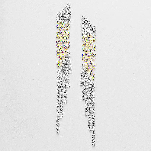 Clear and AB Mixed Strands Earring