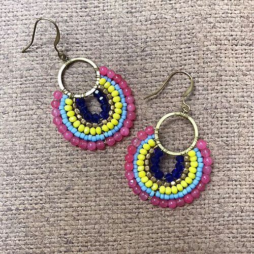 Colorful Boho Beaded Earrings PK
