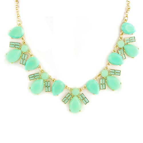 Minty Fresh Statement Necklace