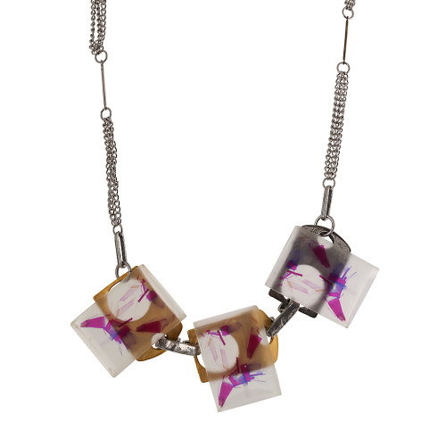 Triple Hand-Painted Resin Necklace