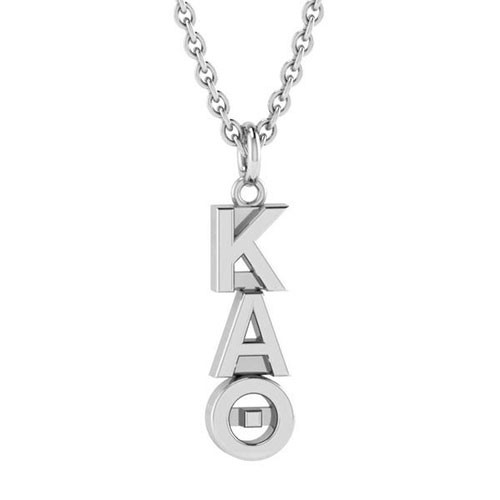 Kappa Alpha Theta Silver Original Lavalier Necklace