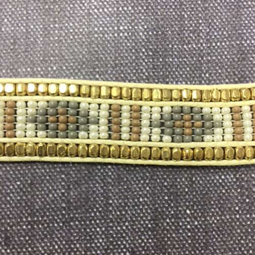 Fully Beaded Tribal Choker Ivory