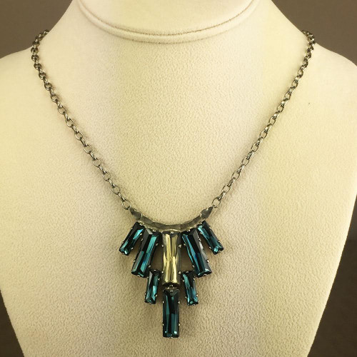 Sorrelli Montana & Champagne Crystal Baguettes Necklace