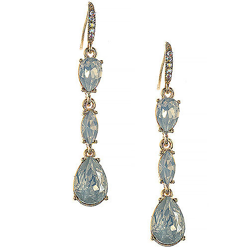 Molly's Baby Blue Opal Triple Crystal Drops