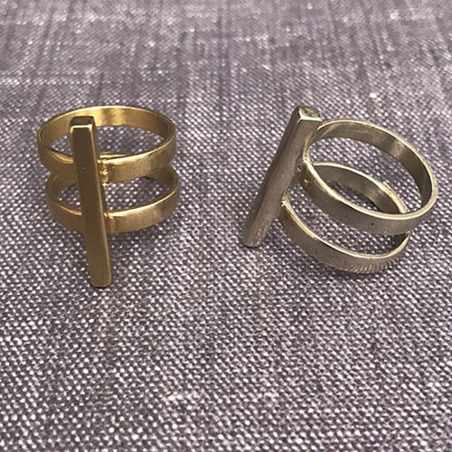 The Cage Ring in Gold and Silver