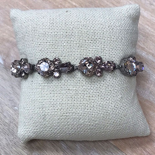 Sorrelli Satin Blush Round and Pear Crystal Bracelet