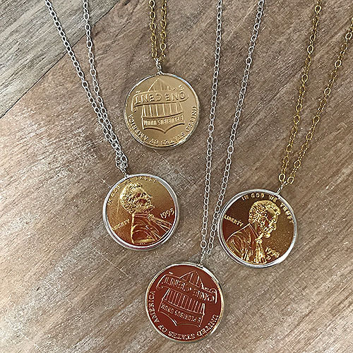 Penny Necklace With Personalized Year