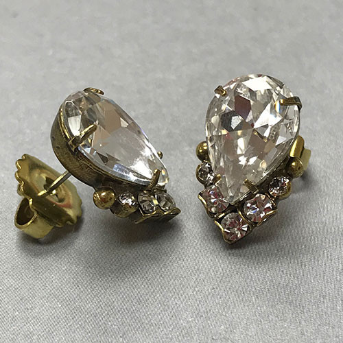 Sorrelli Crystal Cluster Earring in Antique Gold