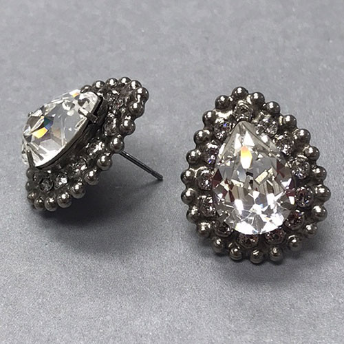 Sorrelli Large Crystal in Antiqued Silver Earring