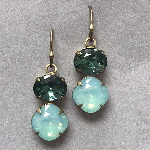 Sorrelli Mint Alabaster & Teal Dangle Earring