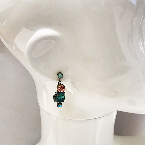 Sorrelli Teal & Pink Gem Pop Dangle earring