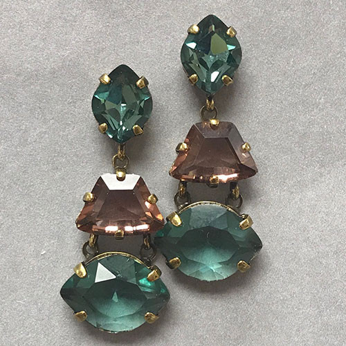Sorrelli Two Teals & an Amethyst Earring