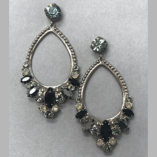 Sorrelli Erinite & Onyx Hoop Earrings
