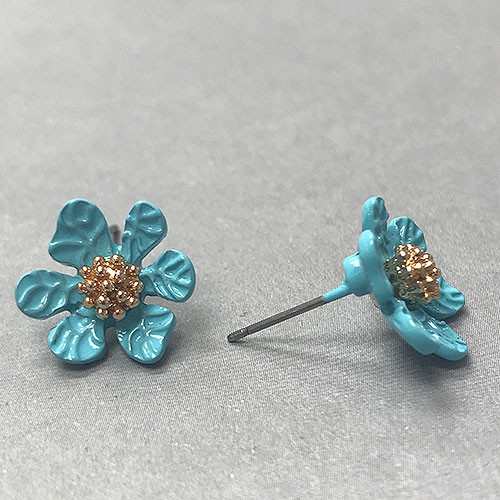 Turquoise Flower Post Earring