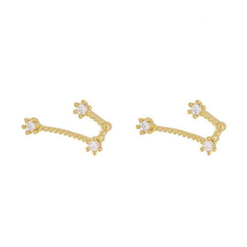 Wanderlust + Co. Taurus Zodiac Constellation Cubic Zirconia Earrings