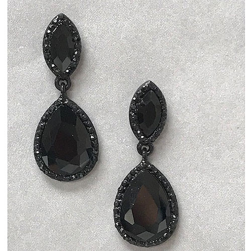 The Madison Jet Black Teardrop Earring