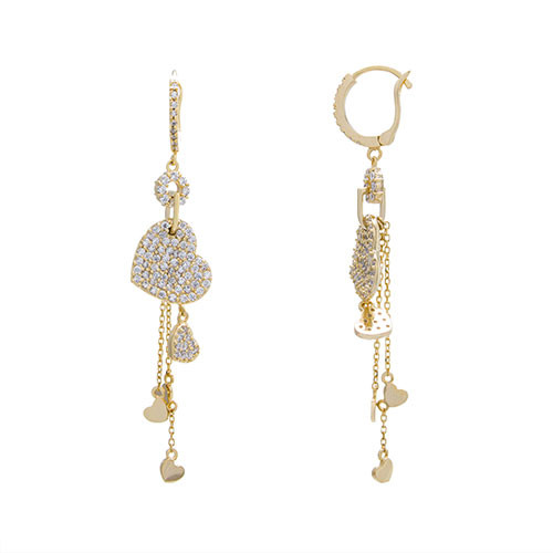 Passionate Hearts Dangling Earring