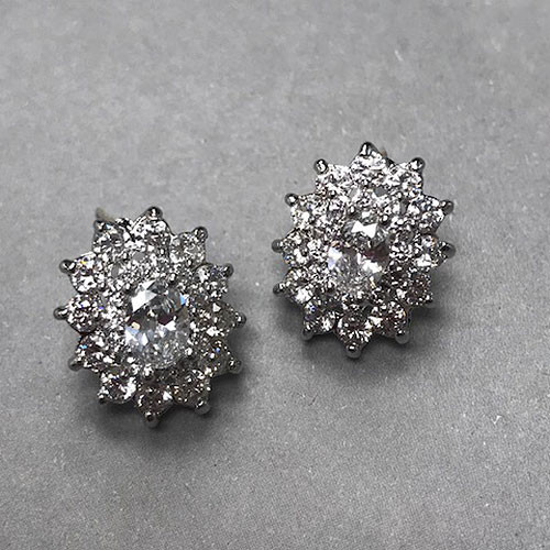 "Cubic Zirconia ""I Do"" Stud Earrings"