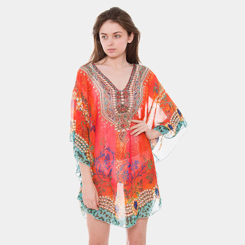 Boho Sheer Pullover Cover Up