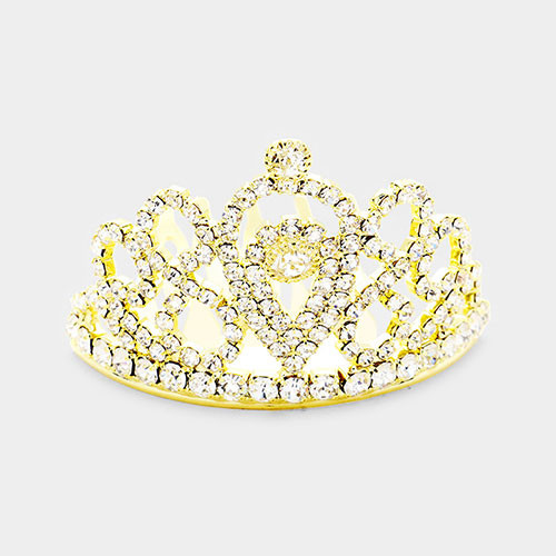 The Diana Mini Crystal Tiara in Gold