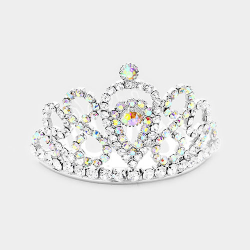 The Diana Mini Crystal Tiara in Silver