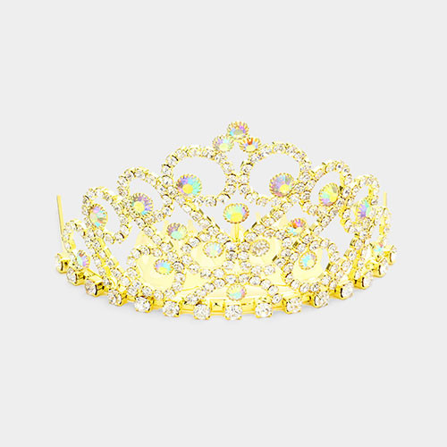 The Princess Crystal AB Mini Tiara