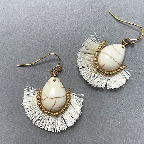 Fan Fringe Tassel Earrings
