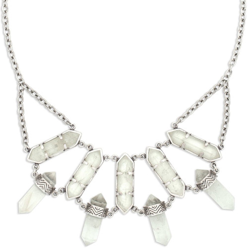 Tribe's North Star Quartz Crystal Bib Necklace