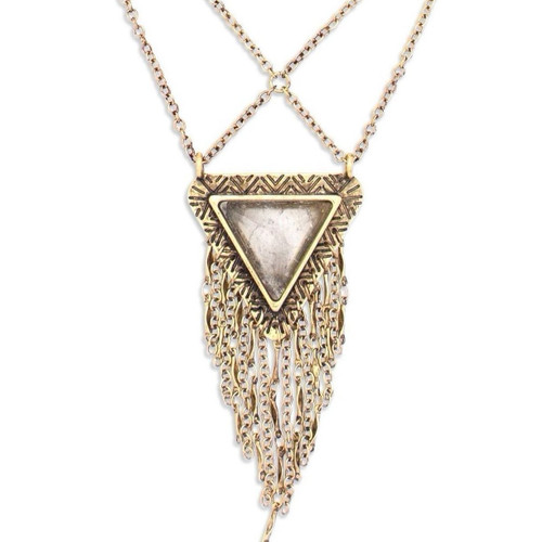 Tribe's Days to Come Antiqued Gold Necklace
