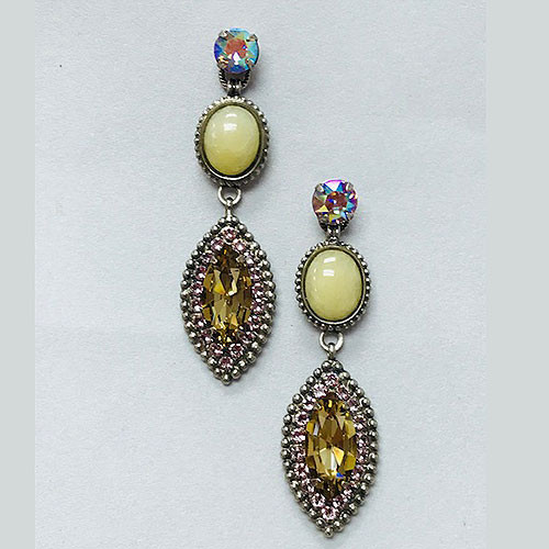 Sorrelli Antiqued Silver Triple Drop Earring