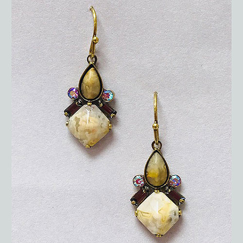 Sorrelli Mexican Lace Agate & Aragonite Earring