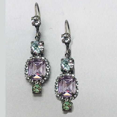 Sorrelli Light Amethyst Pastel Crystal Dangle