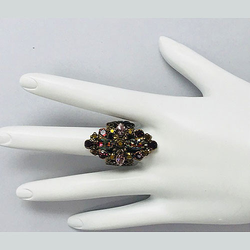 Sorrelli Elongated Mohangany Crystal Ring